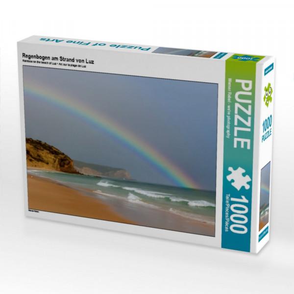 Puzzle Regenbogen am Strand von Luz