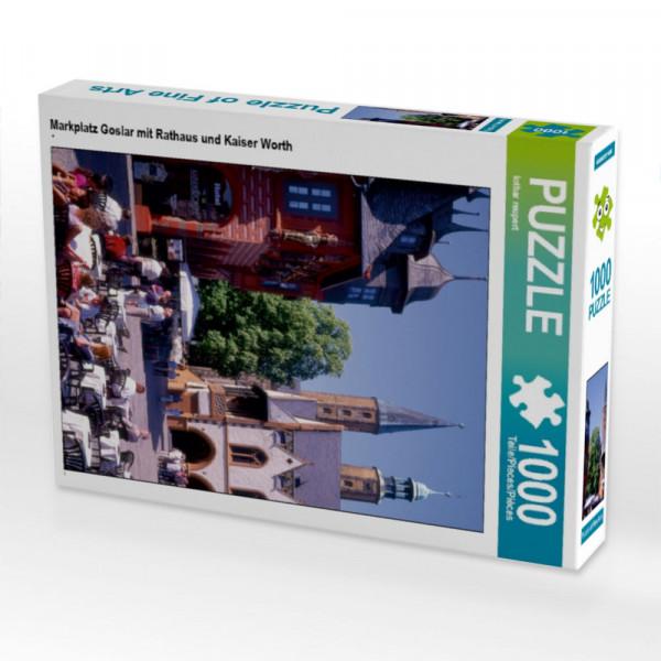 Puzzle Markplatz Goslar mit Rathaus und Kaiser Worth
