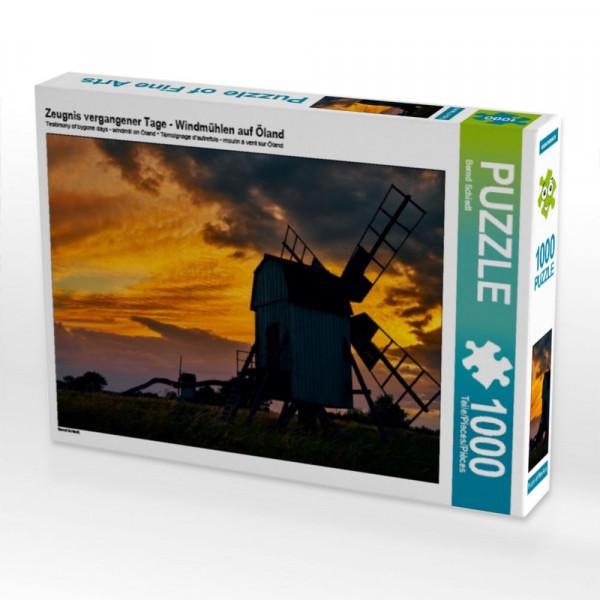 Puzzle Zeugnis vergangener Tage - Windmühlen auf Öland