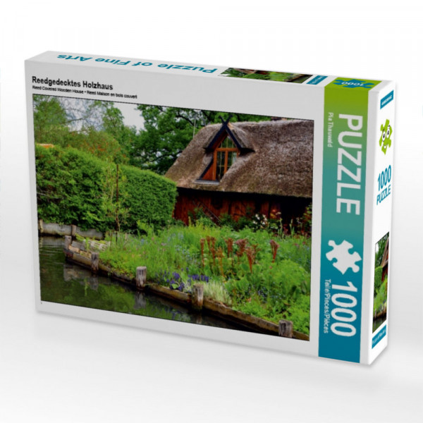 Puzzle Reedgedecktes Holzhaus