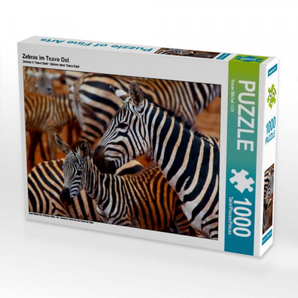 Puzzle Zebras im Tsavo Ost