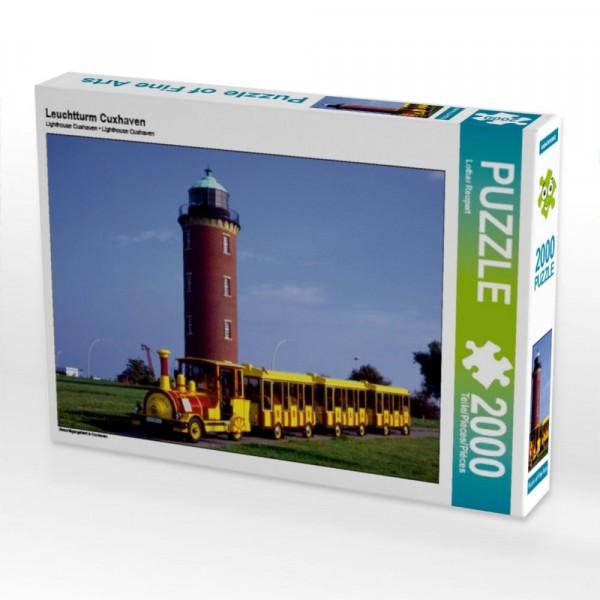 Besichtigungsfahrt in Cuxhaven Puzzle Leuchtturm Cuxhaven 2000 Teile Puzzle quer Motiv 1 Bild 1