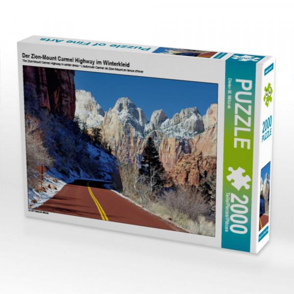 Puzzle Der Zion-Mount Carmel Highway im Winterkleid Foto-Puzzle Bild von Wilczek Dieter-M.