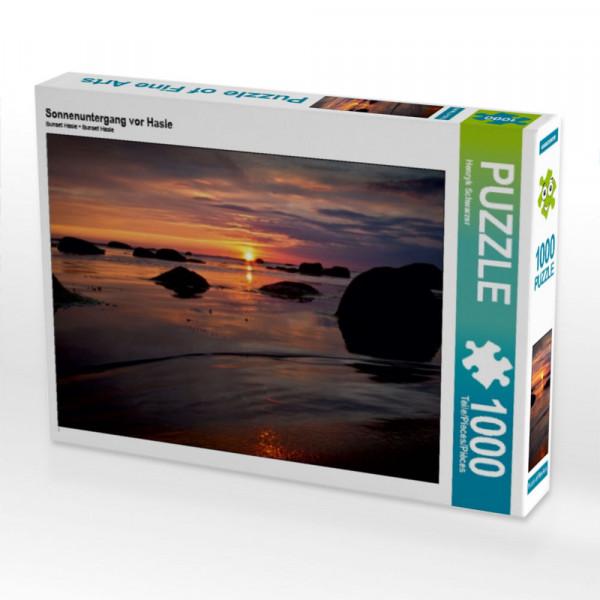 Puzzle Sonnenuntergang vor Hasle