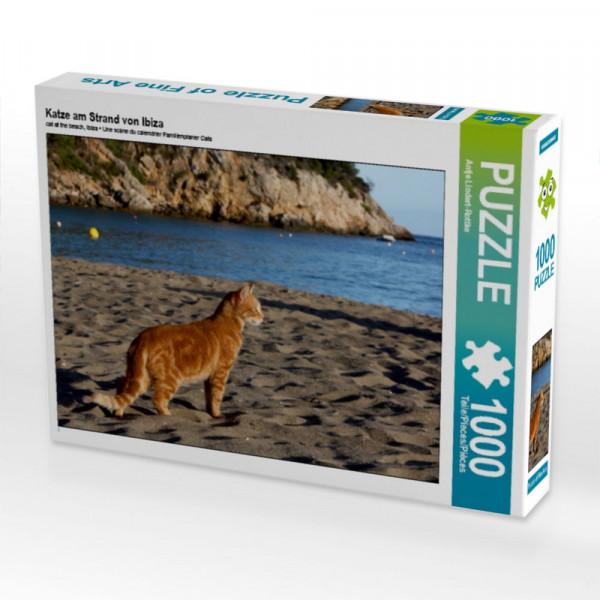 Puzzle Katze am Strand von Ibiza
