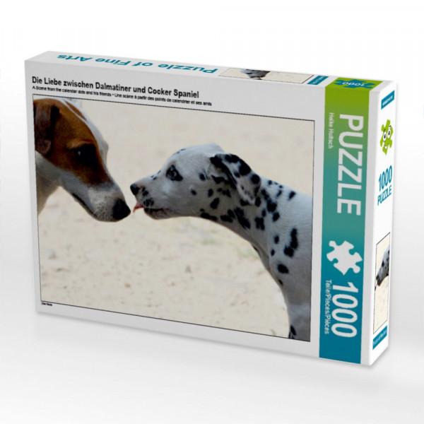 Puzzle Die Liebe zwischen Dalmatiner und Cocker Spaniel