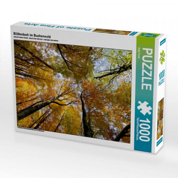 Puzzle Blätterdach im Buchenwald