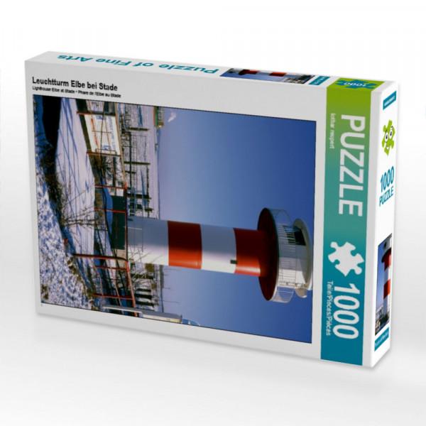 Puzzle Leuchtturm Elbe bei Stade