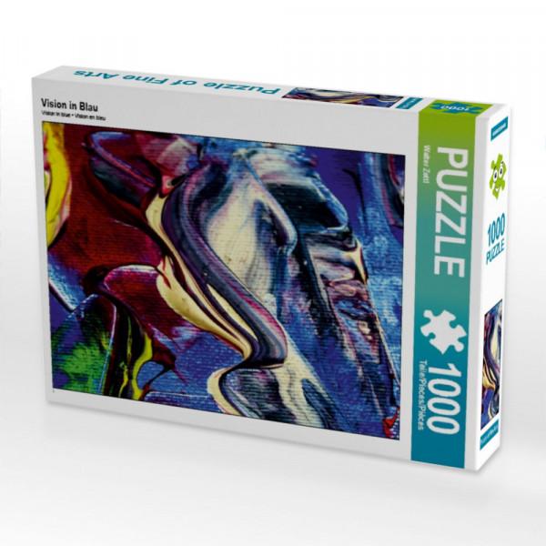 Puzzle Vision in Blau