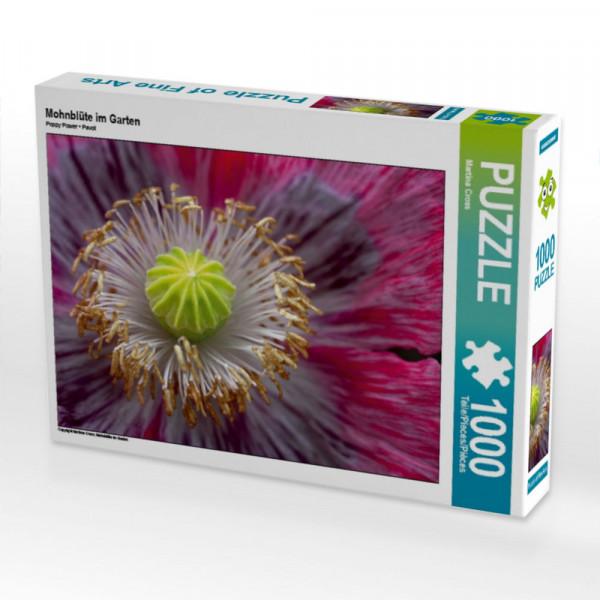 Puzzle Mohnblüte im Garten