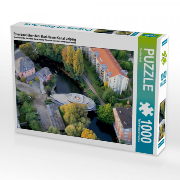 Puzzle Riverboat über dem Karl-Heine-Kanal Leipzig