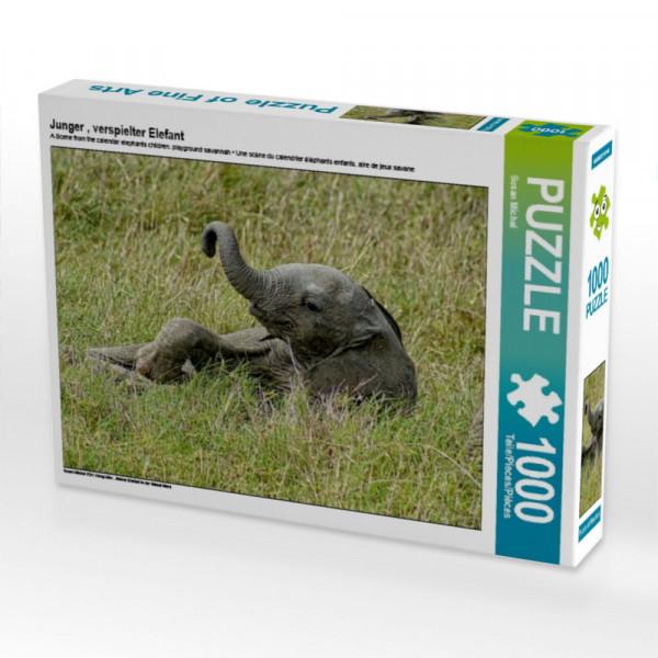 Puzzle Junger verspielter Elefant