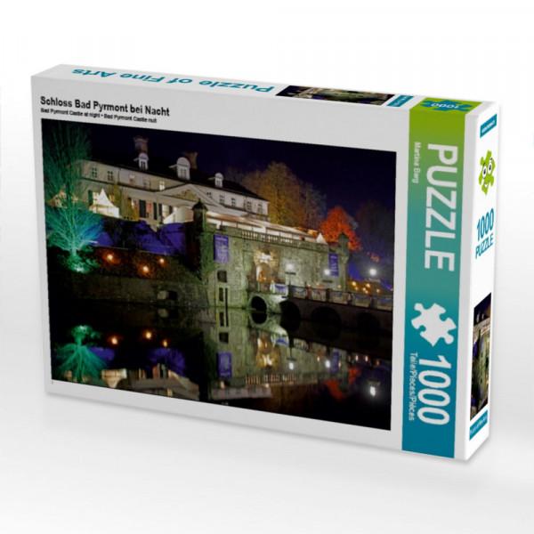 Puzzle Schloss Bad Pyrmont bei Nacht