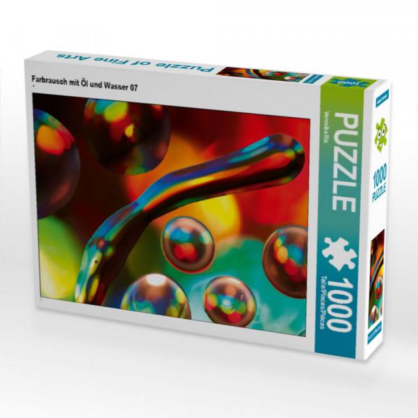 Puzzle Farbrausch mit Öl und Wasser 07