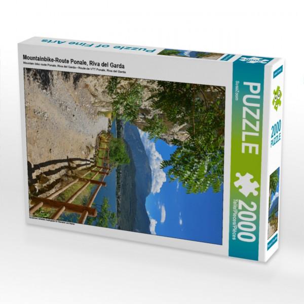beliebtes Ausflugsziel für Wanderer und Radler Puzzle Mountainbike-Route Ponale Riva del Garda 2000 Teile Foto-Puzzle Bild von beliebtes Ausflugsziel für Wanderer und Radler beliebtes Ausflugsziel für Wanderer und Radler Motiv 1 Bild 1