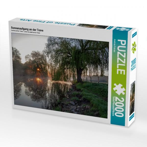 Puzzle Sonnenaufgang an der Trave 2000 Teile Foto-Puzzle   Motiv 1 Bild 1