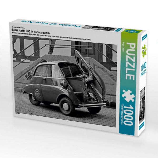 Puzzle BMW Isetta 300 in schwarzweiß