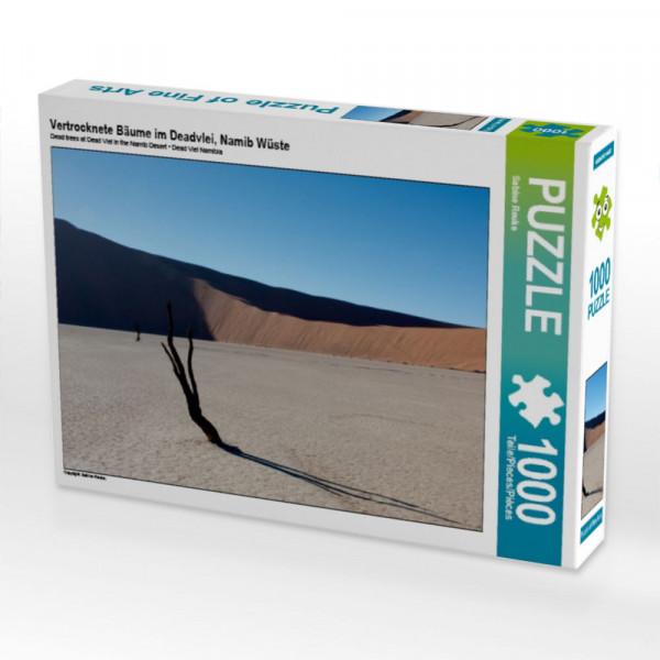 Puzzle Vertrocknete Bäume im Deadvlei Namib Wüste