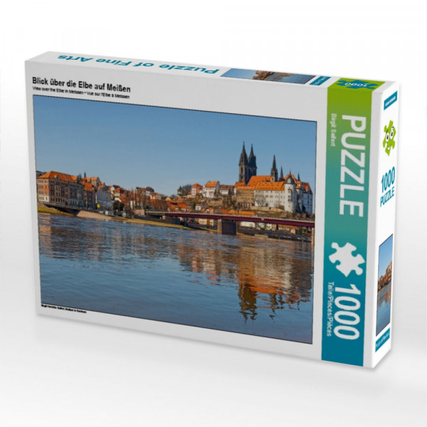 Puzzle Blick über die Elbe auf Meißen