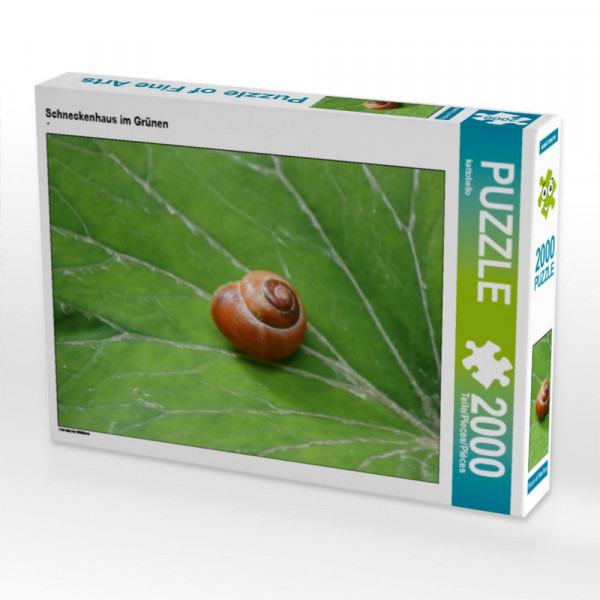 Puzzle Schneckenhaus im Grünen Foto-Puzzle Bild von