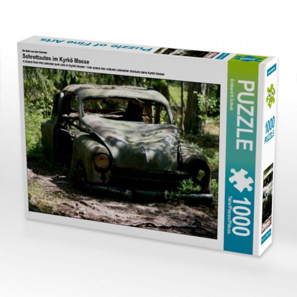 Puzzle Schrottautos im Kyrkö Mosse