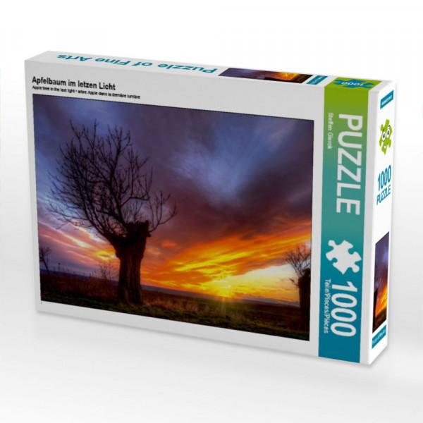 Puzzle Apfelbaum im letzen Licht