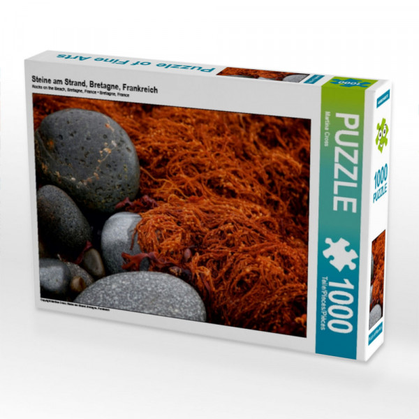 Puzzle Steine am Strand Bretagne Frankreich