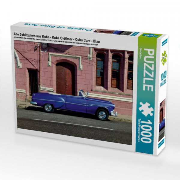 Puzzle Alte Schätzchen aus Kuba - Kuba Oldtimer - Cuba Cars - Blau