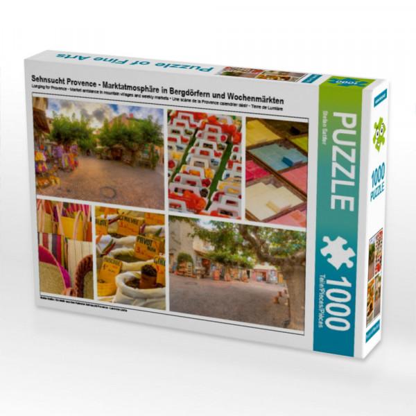 Puzzle Sehnsucht Provence - Marktatmosphäre in Bergdörfern und Wochenmärkten