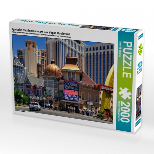 Puzzle Typische Straßenszene am Las Vegas Boulevard Foto-Puzzle Bild von Wilczek Dieter-M.
