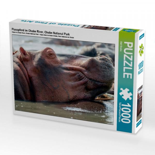 Puzzle Flusspferd im Chobe River Chobe National Park