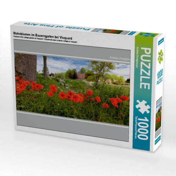 Puzzle Mohnblumen im Bauerngarten bei Visquard