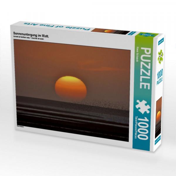 Puzzle Sonnenuntergang im Watt.