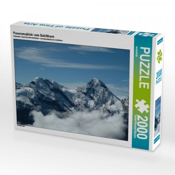 Puzzle Panoramablick vom Schilthorn Foto-Puzzle Bild von