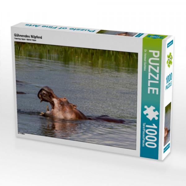Puzzle Gähnendes Nilpferd