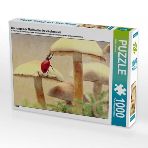 Puzzle Der hangelnde Marienkäfer im Märchenwald