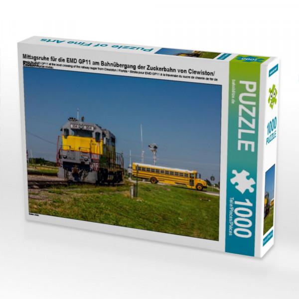 Puzzle Mittagsruhe für die EMD GP11 am Bahnübergang der Zuckerbahn von Clewiston/Florida