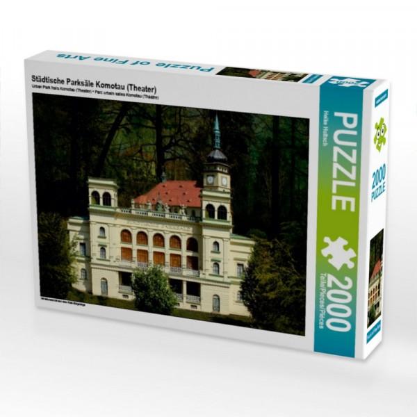Miniaturansicht aus dem Klein-Erzgebirge Puzzle Städtische Parksäle Komotau (Theater) 2000 Teile Puzzle quer Motiv 1 Bild 1