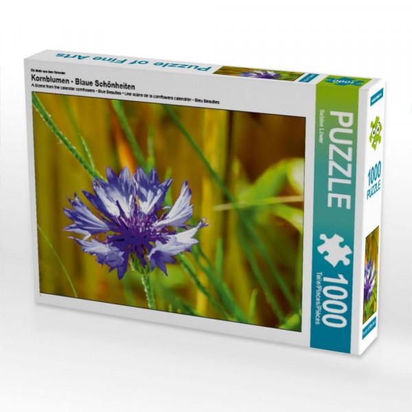 Puzzle Kornblumen - Blaue Schönheiten