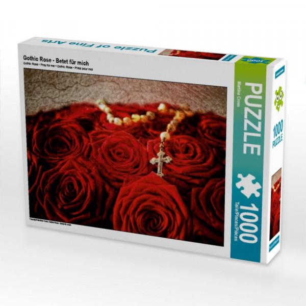 Puzzle Gothic Rose - Betet für mich
