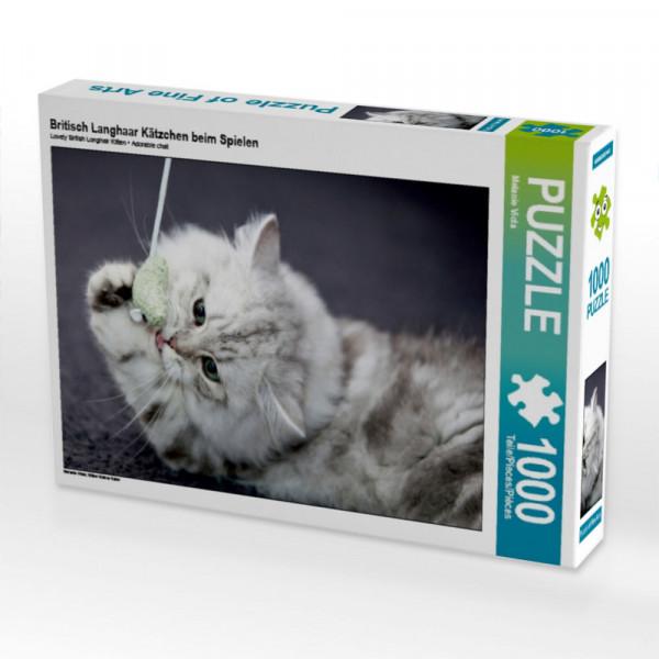 Puzzle Britisch Langhaar Kätzchen beim Spielen