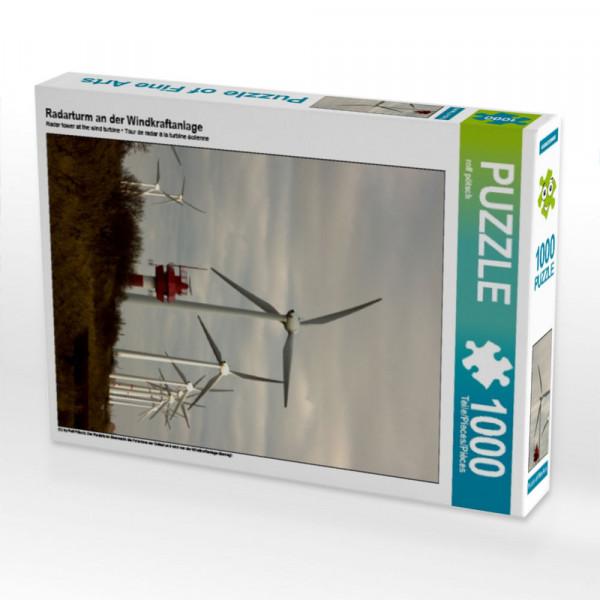 Puzzle Radarturm an der Windkraftanlage