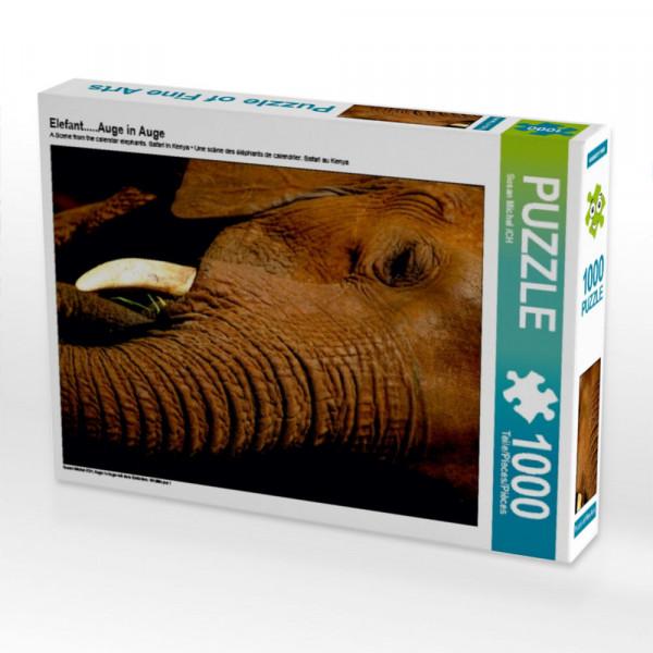 Puzzle Elefant.....Auge in Auge