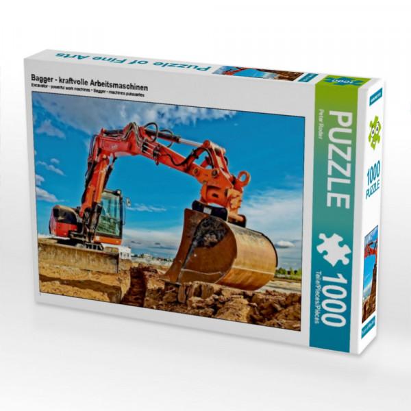 Puzzle Bagger - kraftvolle Arbeitsmaschinen