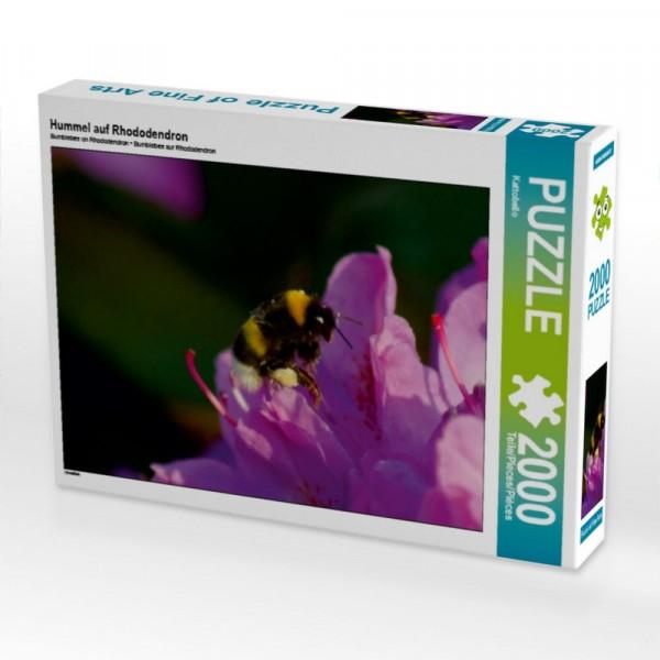 Insekten Puzzle Hummel auf Rhododendron 2000 Teile Puzzle quer Motiv 1 Bild 1