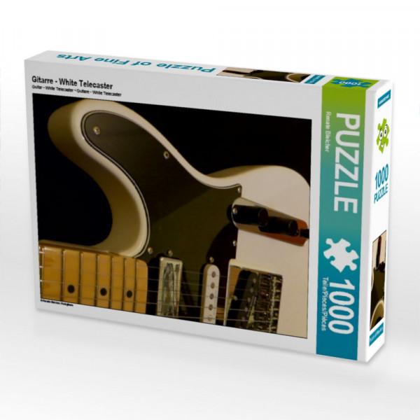 Puzzle Weiße E-Gitarre