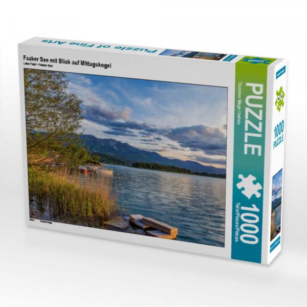 Puzzle Faaker See mit Blick auf Mittagskogel