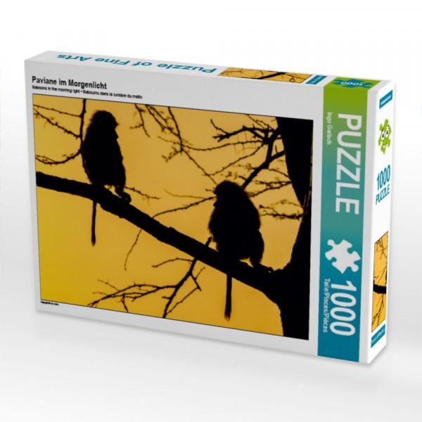 Puzzle Paviane im Morgenlicht