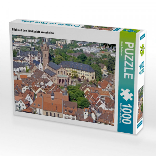 Puzzle Blick auf den Marktplatz Weinheims