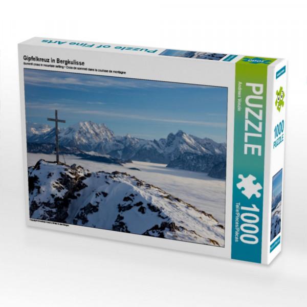 Puzzle Gipfelkreuz in Bergkulisse